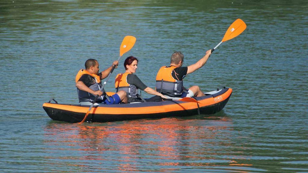 Kayaking With Three People